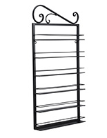 decorative nail polish rack with powder-coated frame