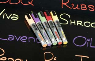 liquid chalk markers in earth tones