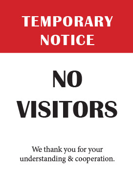 Printable No Visitors Sign