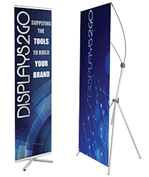Non-retracting banner stands