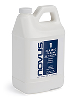 NOVUS acrylic cleaning solution in sixty four ounce bottle