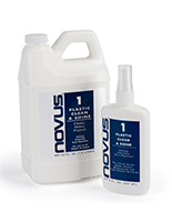 NOVUS acrylic cleaning solution to clean, shine, and protect