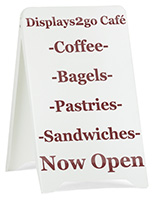Custom Graphic Sidewalk Sign, White