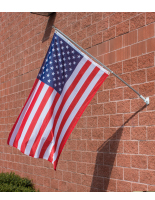 Durable American Flag and Pole Set