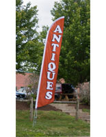 Antiques Flag with Dye Sublimation
