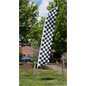 Checkered Feather Flag for Race Tracks