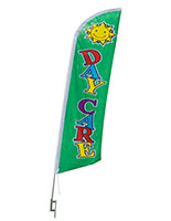 Daycare Flag with Green Background