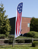 patriotic feather banner