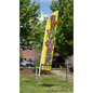 Flower Sale Feather Flag with Steel Ground Stake