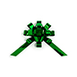 Metallic green giant holiday bow for indoor or outdoor use