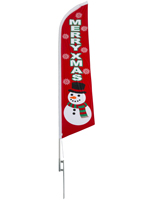 Merry Xmas flutter flag for christmas advertising