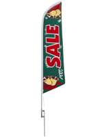 14' tall seasonal Sale feather flag