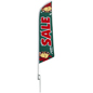 Seasonal Sale feather flag for storefront lawns