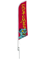 14' tall Halloween feather COSTUMES flag