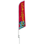 Halloween feather COSTUMES flag for storefront promotions