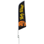 Seasonal Halloween outdoor flag with predesigned artwork
