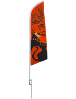 Halloween theme feather flag for store promotions