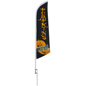 Halloween feather PUMPKINS message flag for promotions
