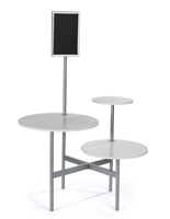 Modern Display Table with 3 Tiers