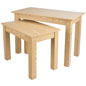 "Wood Nesting Tables with 45""W Larger Table"