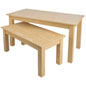 "Wooden Display Tables with 60"" Wide Large Table"