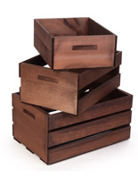 Nesting Wood Display Crates