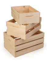Natural Retail Display Crates