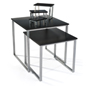 Contemporary Black Nesting Table Set