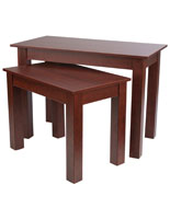 Set of 2 Cherry Wood Nesting Tables