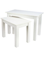 White Small Nesting Table Set