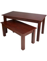 "72"" Wide Cherry Nesting Tables"