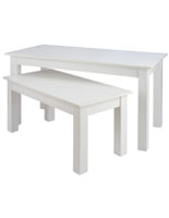 White 2 Piece Nesting Table Set