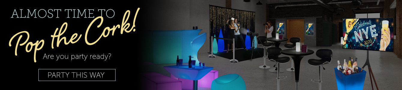 Prepare for This Year's New Year's Eve with LED Decorations and Modern Furnishings Guaranteed to Get the Party Rolling!