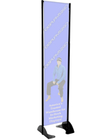 "16"" x 72"" Black Permanent Banner Stand w/o Graphic; Mountable"