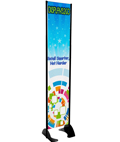 "16"" x 72"" Black Permanent Banner Stand w/ Single Sided Graphic; For Outdoor or Indoor Marketing"