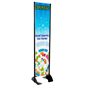 "18"" x 72"" Black Permanent Banner Stand w/ Single Sided Graphic; For Retail Environments"
