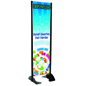 "24"" x 72"" Black Permanent Banner Stand with Single Sided Graphic"