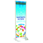"24"" x 72"" Gray Permanent Banner Stand with Single Sided Graphic"