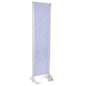 "20"" x 72"" Gray Permanent Banner Stand without Graphic"