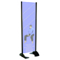 "24"" x 72"" Black Permanent Banner Stand without Graphic, All Weather Display"
