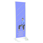 "24"" x 72"" Gray Permanent Banner Stand without Graphic"