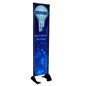 "18"" x 72"" Black Permanent Banner Stand w/ Double Sided Printing; Can Sustain 60 MPH Winds"