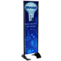 "20"" x 72"" Black Permanent Banner Stand with Double Sided Graphic"