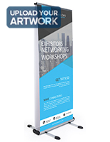 Outdoor double-sided banner display stand digitally printed