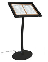 corkboard stands with leds