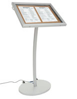 illuminated corkboard stands