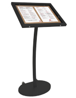 black corkboard stands