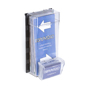 Outdoor Leaflet Dispenser With Business Card Holder
