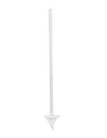 Outdoor-use white metal ground stake for ODLHWHT