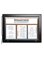 LED Corkboard Menu Box For Displaying Advertisements LED Corkboard Menu Box
